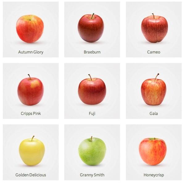 Calorías manzanas según tipo