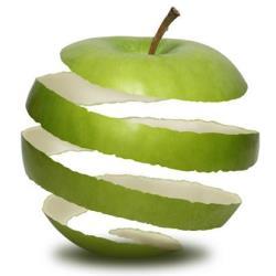 Calorías manzana con piel