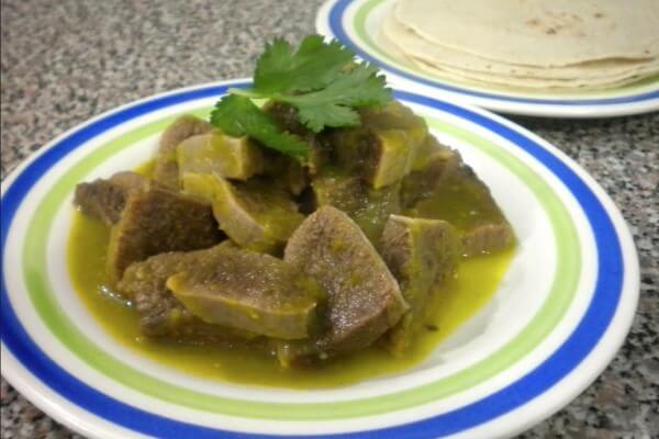 Receta Lengua en salsa verde