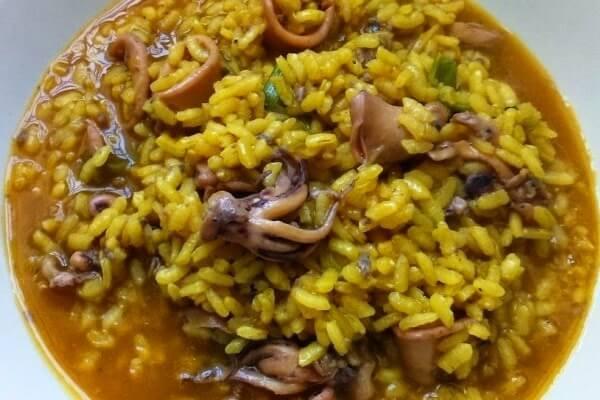 Receta arroz con chipirones