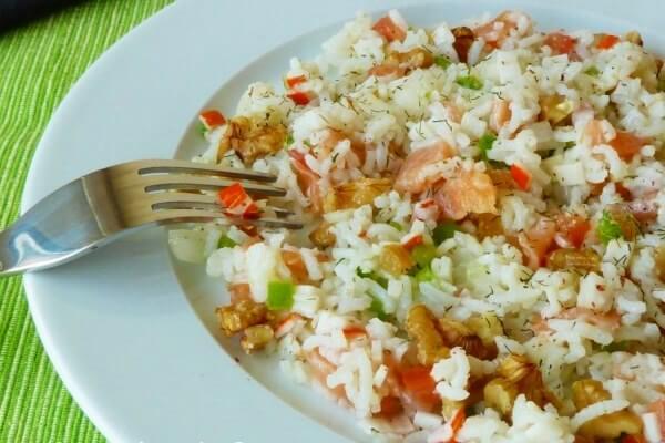 Receta arroz en ensalada