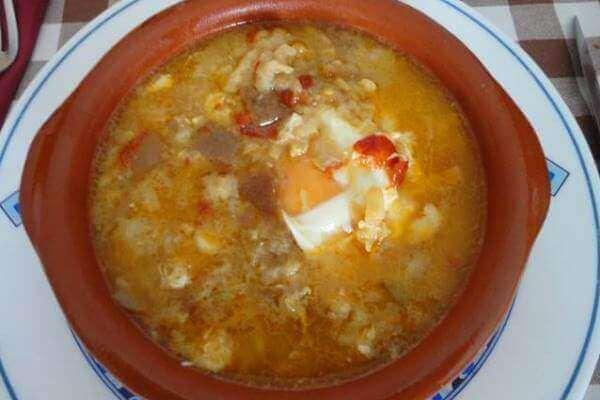 Receta Sopa de ajo con bacalao
