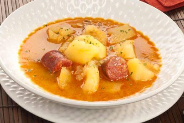 Receta de patatas con chorizo