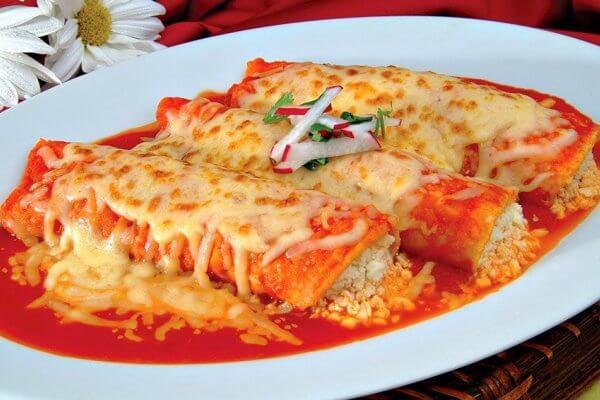 Receta Enchiladas rojas