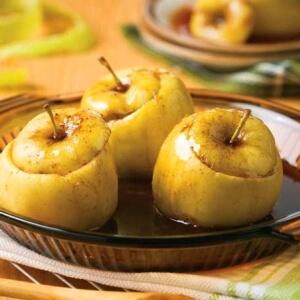calorías de las manzanas al microondas