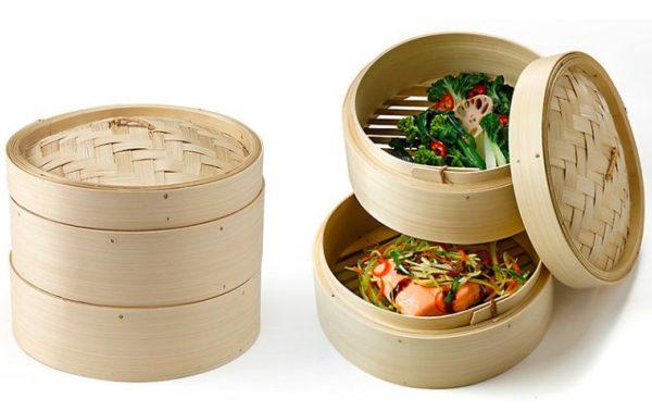 características y funciones vaporera de bambú
