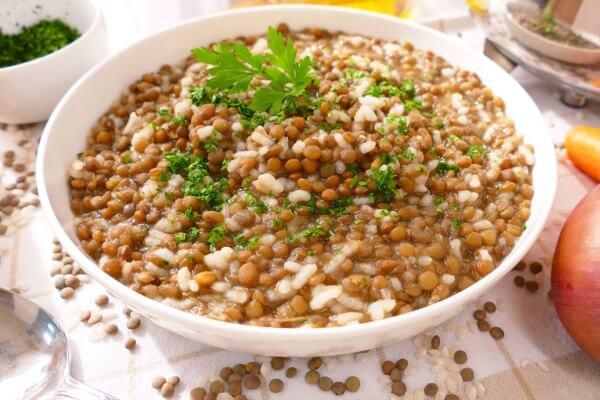 cómo preparar arroz con lentejas